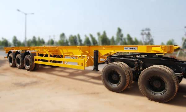 Three Axle Skeletal Trailer – 12.3 Mtr