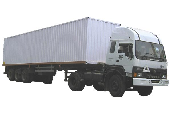 Three Axle Container Trailer with Rear open