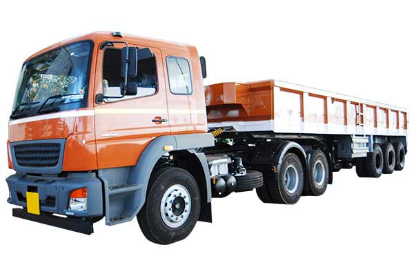 9.7 Mtr, Three Axle Side Body Trailer with 0.91 Mtr Height