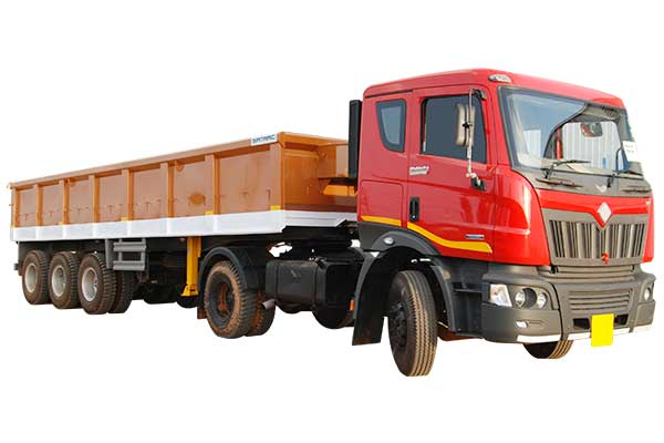 Three Axle Side Body Trailer with 0.91 Mtr Height