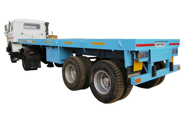 Regular Duty Two Axle Flat Bed Trailer - 6.7 Mtr
