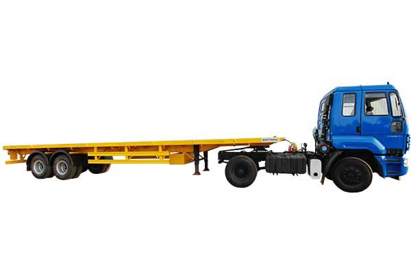 Two Axle Flat Bed Trailer – 12.3 Mtr