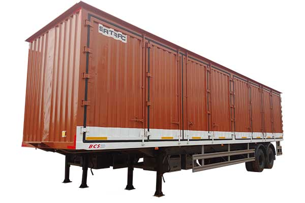 Two Axle Side Open Container Trailer