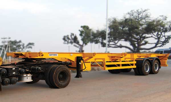 Two Axle Skeletal Trailer – 12.3 Mtr