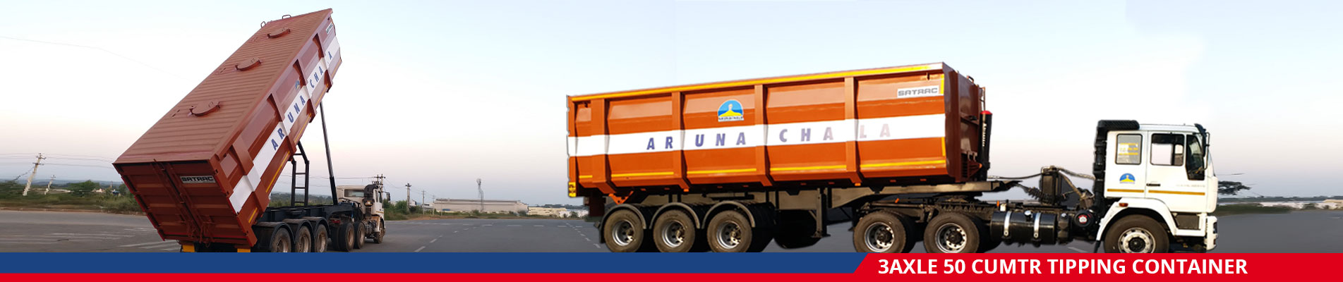 3Axle 50 Cumtr Tipping Container
