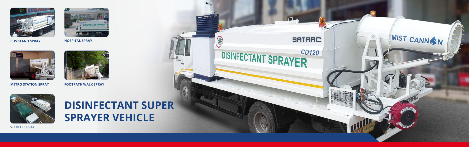 DISINFECTANT SUPER SPRAYER VEHICLE